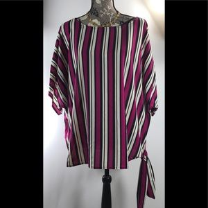 Michael Kors Bold Stripes Side Tie top Blouse